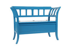 голубое кресло деревянное Стоковое Фото