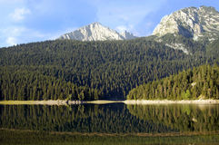 голубое лето неба ландшафта озера Стоковое фото RF
