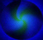 голубое мандала Стоковое Изображение
