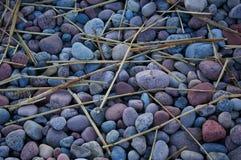 Голубое море камешка моря облицовывает предпосылку Естественное polisch stew bluets вечер Abstrackt цвет стоковое фото rf