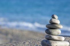 голубое море камушков Стоковое Фото