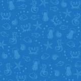 голубое море картины жизни безшовное иллюстрация вектора