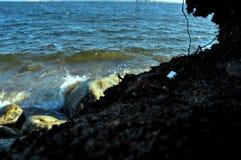 Голубое море не дайте вверх стоковое фото rf