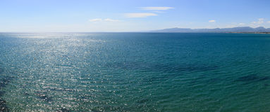 голубое море панорамы Стоковая Фотография
