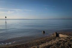 Голубое море пруда мельницы Стоковые Изображения RF