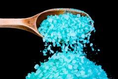 голубое море соли кристаллов Стоковые Изображения RF