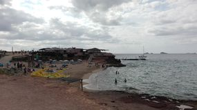 Голубое море ibiza ‹â€ ‹â€ стоковое фото