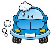 голубое мытье автомобиля Стоковое Фото