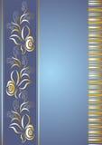 голубое название страницы Иллюстрация вектора