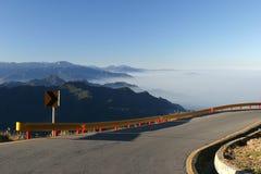 голубое небо высокой горы Стоковая Фотография RF