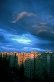 Голубое небо в GyÅr, Венгрия Стоковое фото RF