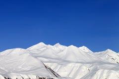 голубое небо гор снежное Стоковые Изображения RF