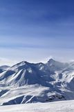 голубое небо гор снежное Стоковые Фото
