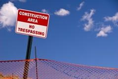 голубое небо знака загородки Стоковая Фотография