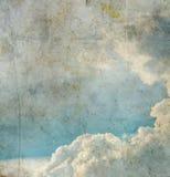 голубое небо изображения grunge Стоковое Изображение