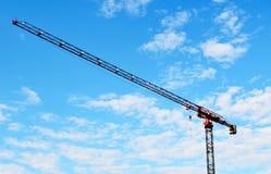 голубое небо крана здания Стоковое Изображение