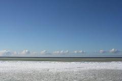 голубое небо моря льда floe Стоковое Изображение