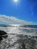 голубое небо моря стоковые изображения rf