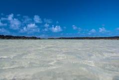 голубое небо моря Стоковое Изображение RF