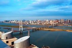 голубое небо моста вниз Стоковое Фото