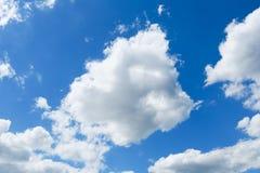 голубое небо облака крупного плана Стоковые Фотографии RF