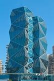 голубое небо офиса здания Стоковые Изображения