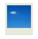 голубое небо поляроида облаков Стоковая Фотография RF