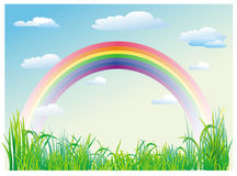 голубое небо радуги Стоковые Изображения RF