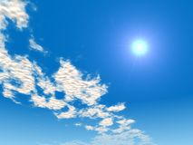 голубое небо солнечное Стоковые Изображения