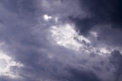 Голубое небо с облаками, кумулюс Предпосылка, природа Стоковая Фотография RF