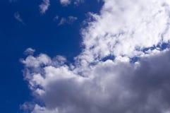 Голубое небо с облаками, кумулюс Предпосылка, природа Стоковые Фото