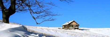 голубое небо chalet Стоковая Фотография