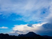 голубое небо cloudscape Стоковые Фото