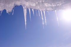 голубое небо icicle Стоковое Изображение RF