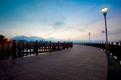 голубое новое tamsui taipei taiwan захода солнца типа Стоковые Изображения