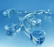 голубое ожерелье цвета стоковое изображение