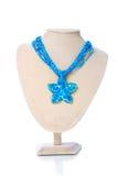 голубое ожерелье стоковые изображения rf