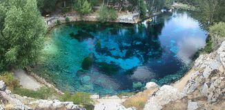 Голубое озеро в Турции Стоковое Изображение RF