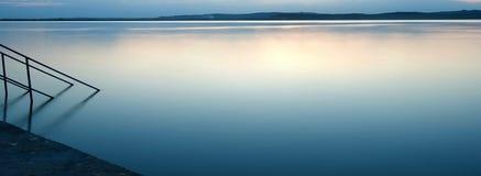 голубое озеро Стоковое Изображение