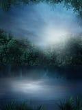 голубое озеро иллюстрация вектора