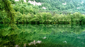 голубое озеро Стоковая Фотография