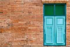 голубое окно деревянное Стоковое Фото