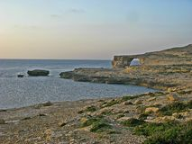 Голубое окно, Gozo стоковое фото rf