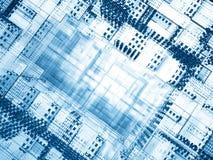 голубое отверстие cyber Стоковые Изображения