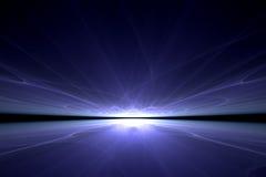 голубое отражение Стоковые Фотографии RF