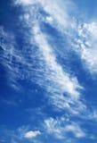 голубое пасмурное небо Стоковые Фотографии RF