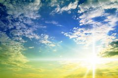 голубое пасмурное небо Стоковые Изображения RF
