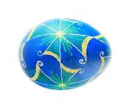 голубое пасхальное яйцо Стоковые Фотографии RF