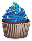 голубое пирожне иллюстрация вектора
