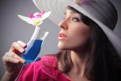 голубое питье стоковая фотография rf